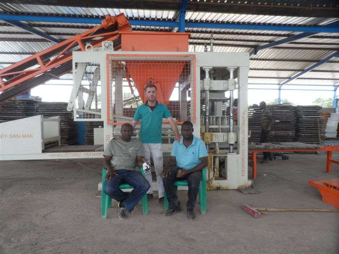 hollow and paving block making machine installed in Mali, block making machine in Mali