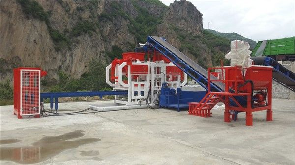 cement brick making machine with mixer