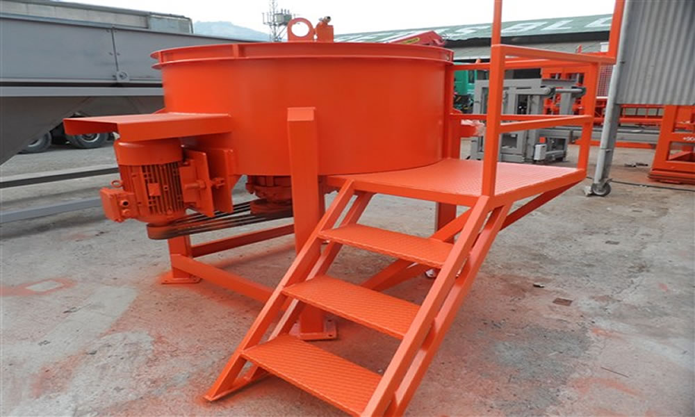 hollow concrete block machine mixer