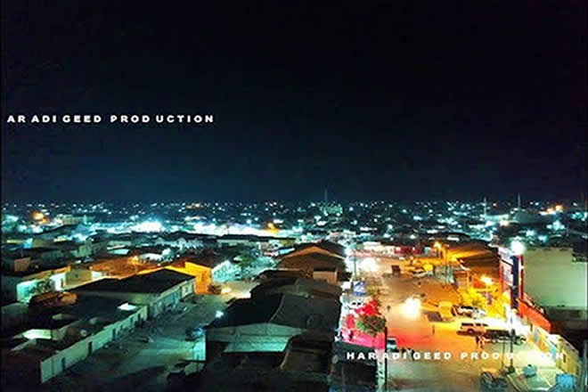 lasanod city somali at night